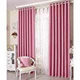 General Blackout Curtains Panel Pink with Sliver Stars for Girls Kids Room (Ties not Included) Review