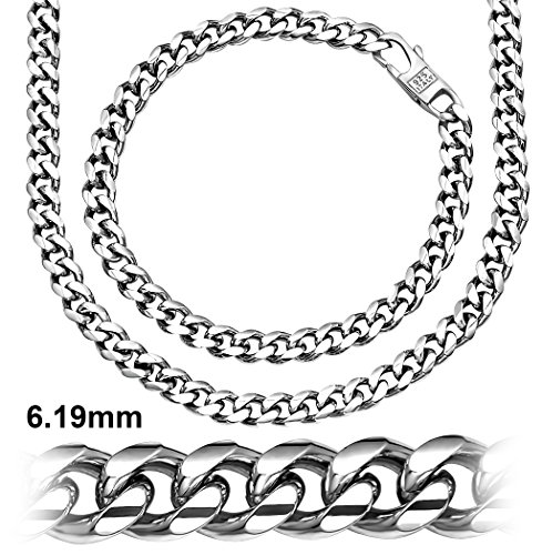 Sterling Manufacturers Alluring Miami Cuban Link Chain Bracelet for Men, 925 Sterling Silver Jewelry with Secure LinxLock Design, Platinum Plated 6.19 MM, Made in Italy (Mark Edge Jewelry)