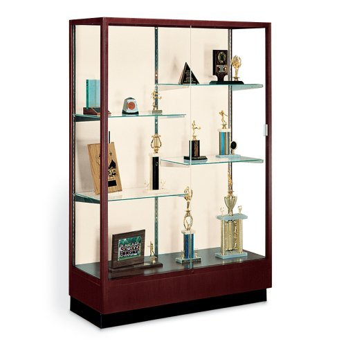 Classic Display Case with Fabric Backing Danish Walnut/Oyster Backing