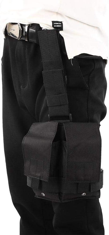 Alomejor Bolsillos Dobles Drop Double mag Pouch Leg Panel para Caza mag Bag