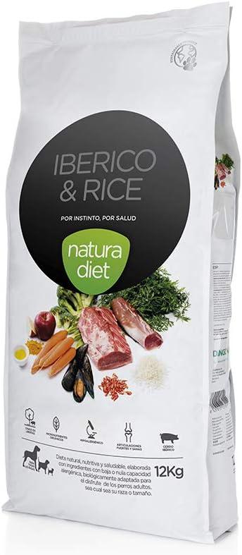 Natura Diet Ibérico & Rice - Comida para Mascotas, 12 kg