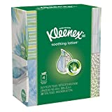 KLEENEX Lotion Facial Tissue, 75 Count (Pack of 4)- (Designs & Colors Will Vary)