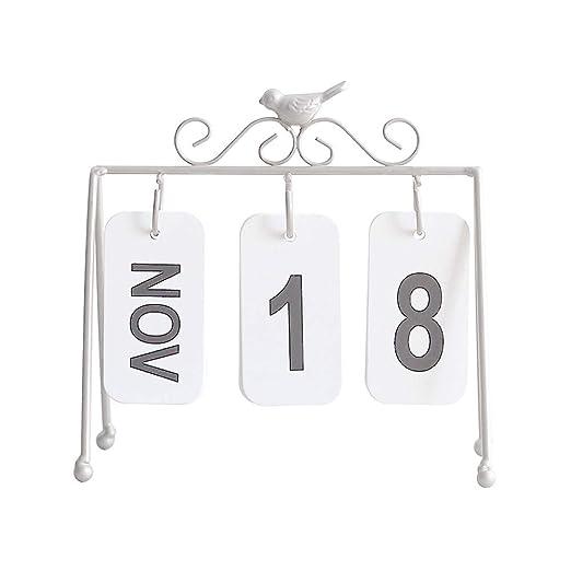 Ruiting Calendario Mesa 2019,Calendario de Sobremesa con Estante ...