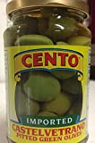 Cento Castelvetrano Pitted Green Olives 11.6 oz Jars - Pack of 2
