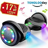 TOMOLOO Hoverboards Smart Scooter Two-Wheel Self Balancing Electric Scooter Light - Black Hover Board UL2272 Certified Battery Protection … …