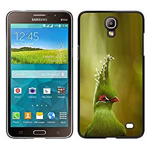 [Neutron-Star] Snap-on Series Teléfono Carcasa Funda Case Caso para Samsung Galaxy Mega 2 [Bird Green Tropical Parrot Species Nature]