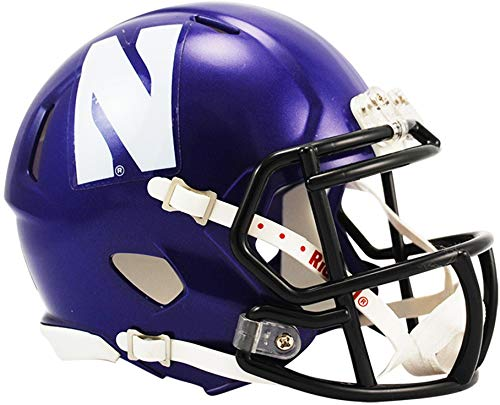 Sports Memorabilia Riddell Northwestern Wildcats Revolution Speed Mini Football Helmet - College Mini - Northwestern Helmet Mini Authentic Wildcats