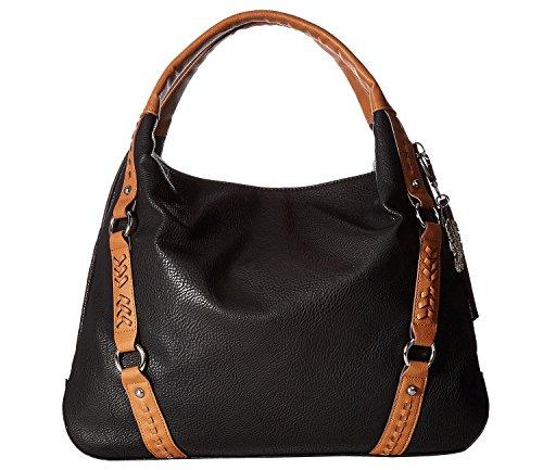 Review Jessica Simpson Women's Shana Tote Black/Cognac Handbag