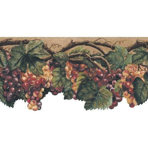 Die Cut Fruit Wallpaper Border - Decorate By Color BC1580399 Green Die Cut Fruit Border