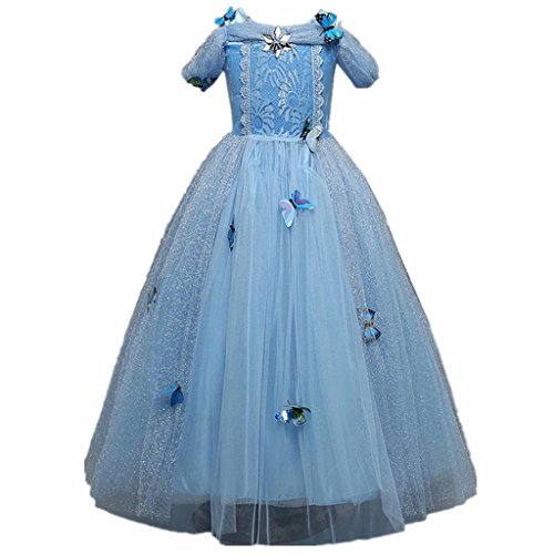 Gown Aurora Prom (Girls' Cinderella Dress Princess Party Costume Butterfly)