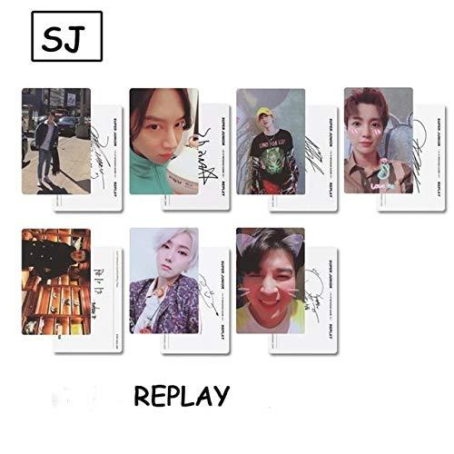 Laliva Kpop Super Junior Replay Album Paper Photo Cards SJ Self Made Photocard Poster 7pcs/Set - (Color: Type B)