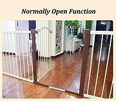 Barrera Seguridad Extra Ancho Puerta del Bebé (Pórtico Arco), Guardias De Seguridad De Alta Resistencia del Metal para Escaleras De Entrada/Puertas, Sistema De Cierre Fácil (Size : 75-84cm): Amazon.es: Hogar