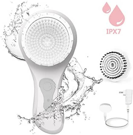 THZY Facial Cleansing Brush Waterproof Body Facial Brush for Deep Cleansing, Gentle Exfoliating and Removing Blackhead