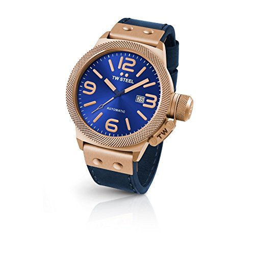 TW-Steel-CS66-Mens-Canteen-Leather-Blue-Dial-Blue-Strap-Automatic-Watch