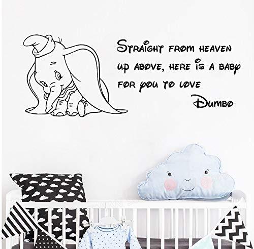 78X30cm Dumbo bebé cita tatuajes de pared directamente desde el ...