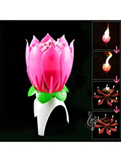 The Amazing Singing Birthday Candle Musical Magical Happy Pink