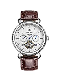 Perpetual calendar watch/Fashion openwork flywheel watch/Automatic mechanical watch-C