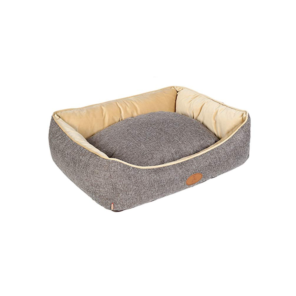 BROWN 907027cm BROWN 907027cm QYQ Kennel Teddy Bullfighting Than Bear Satsuma Removable And Washable Small Medium-sized Dog Cat Supplies Dog Bed Four Seasons Cat Litter Removable And Washable Cat Mat Dog Bed Kennel