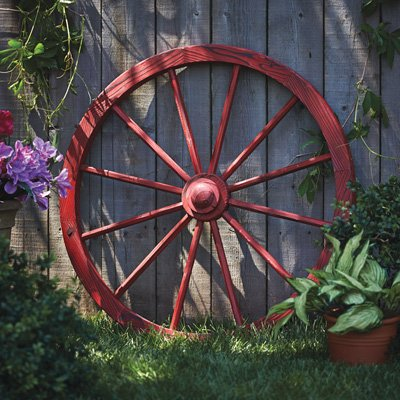 Leigh Country TX 93930 Red Wash Wagon Wheel