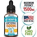 Hemp Oil For DOGS and CATS – 1500 MG – Natural HEMP Extract and Hemp Oil for Pets - Made in USA...