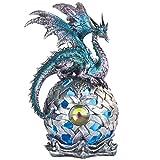 """George S. Chen Imports SS-G-71512 StealStreet - Figura Decorativa de dragón con luz LED (8,25""""/Grande), Color Azul"""