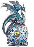 This gorgeous 8.25 Inch Dragon on Large Light Up LED Orb Statue Display, Aqua has the finest details and highest quality you will find anywhere! 8.25 Inch Dragon on Large Light Up LED Orb Statue Display, Aqua is truly remarkable.8.25 Inch Dragon on L...