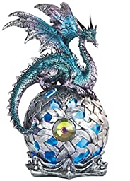 George S. Chen Imports StealStreet SS-G-71512 Dragon on Light Up LED Orb Statue Display, 8.25\