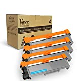 V4INK 4-Pack New Compatible Brother TN630 TN660 Toner Cartridge Black for Brother HL-L2340DW HL-L2300D HL-L2380DW MFC-L2700DW L2740DW DCP-L2540DW L2520DW HL-L2320D MFC-L2720DW L2740DW Printer