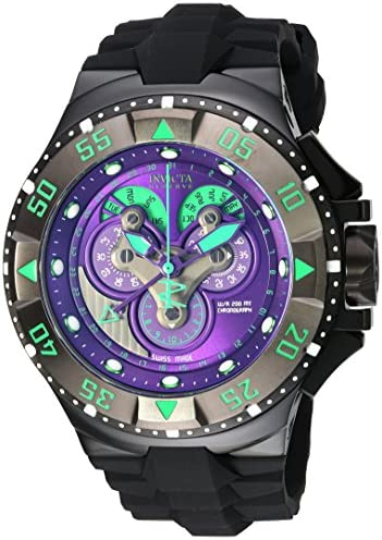 Invicta Men s Excursion Swiss Quartz Stainless Steel and Silicone Casual Watch, Color Black Model 18563