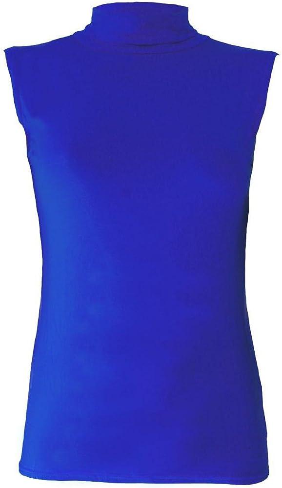Abz Fashion - Camiseta sin Mangas para Mujer, Cuello Polo ...