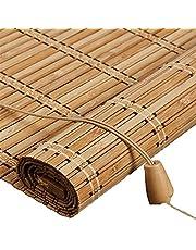 Buiten-bamboe rolgordijn voor venster/Gazebo/Balkon/Patio, Bamboe jaloezieën met Valance - 70/80/90/100/110/120/130/140cm Breedte (Maat: 90x210cm)