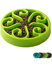 IMHAPO Slow Feeder Dog Bowl, Large 500/1600ml Pet Slow Down Feeding Dishes, Maze Interactive Dog Puzzle, Fun Feeder Bloat Stop Slo Bowl, Non Toxic & Anti Choking, Multiple Colors & Sizes in Available