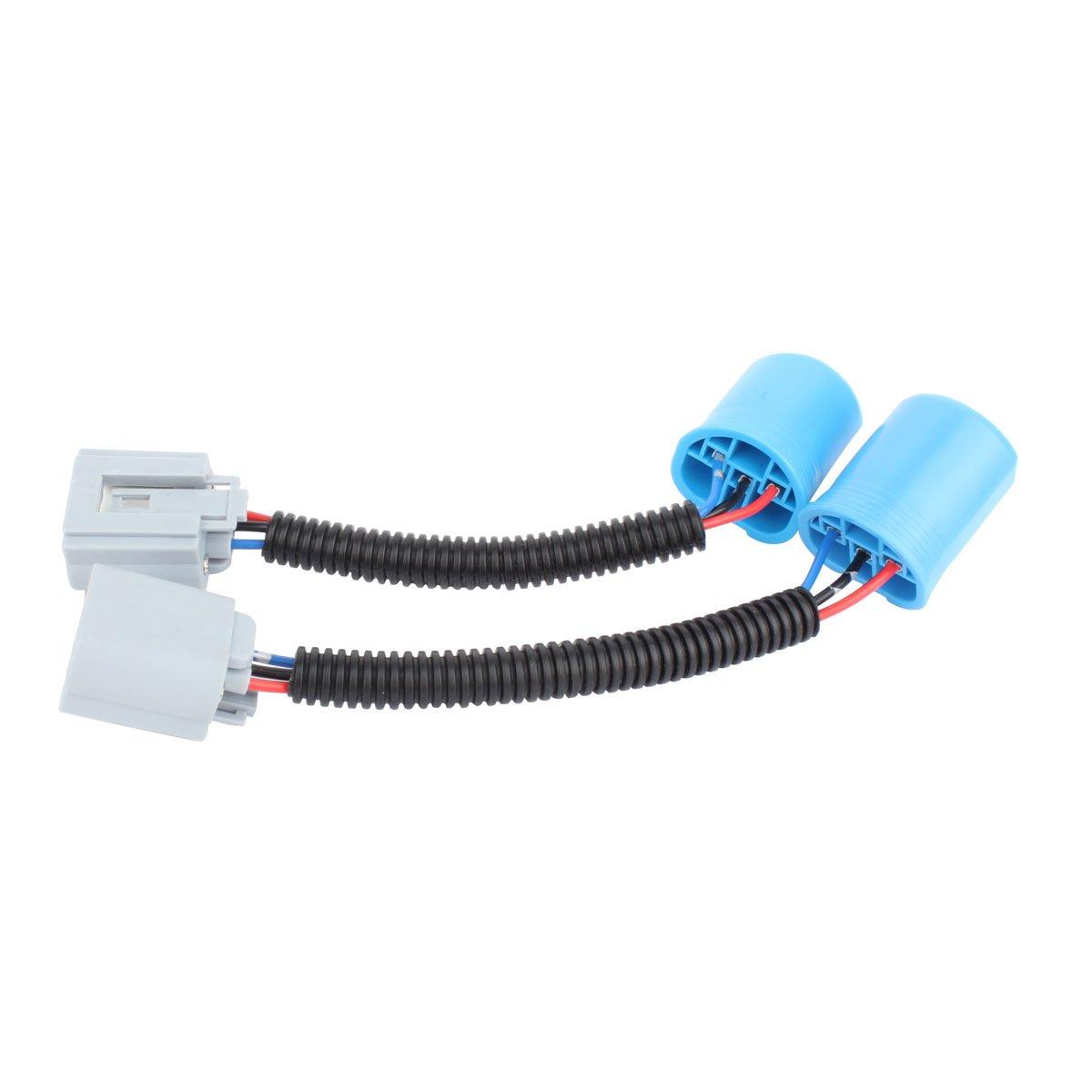 TOMALL H4 9003 HB2 Mâle à H13 9008 Femelle 12cm (5inch) Faisceau de Rénovation pour LED Phare Kit de Conversion Adaptateur de Prise de Connecteur