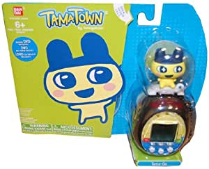 Tamagotchi Tamatown Black and Yellow Tama-go with Mametchi Gotchi Figure Charm by TAMATOWN TAMAGOTCHI