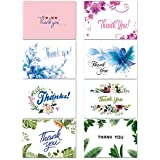 32 Thank You Cards Bulk - Thank You Notes with 8 Designs - Blank Note Cards with Self Seal Envelopes - Perfect for Business, Wedding, Gift Cards, Graduation, Baby Shower, Funeral