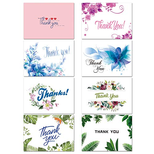 (32 Thank You Cards Bulk - Thank You Notes with 8 Designs - Blank Note Cards with Self Seal Envelopes - Perfect for Business, Wedding, Gift Cards, Graduation, Baby Shower, Funeral)
