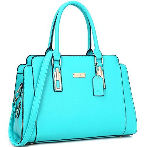 - Dasein Women Designer Satchel Handbags Purse Shoulder Bag Work Bag With Removable Shoulder Strap