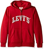 Best Levi's Clothing For Boys - Levi's Toddler Boys' Lined Logo Hoodie, Chili Pepper Review