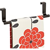 "mDesign Over-the-Cabinet Kitchen Dish Towel Bar Holder - 9"", Bronze"