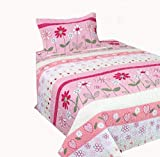 Mk Collection 2 Pc Twin/Twin Extra Long Bedspread Teens/Girls Pink Flower New
