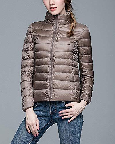 Oudan léger Taille S Manteau coloré Compressible Pour Chameau Femme Montant Col Noir En Ultra Duvet rrO8x