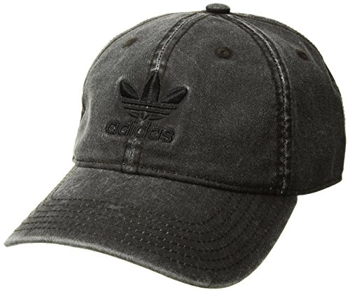 (adidas Men's Originals Relaxed Strapback Cap, Charcoal Grey, One Size)