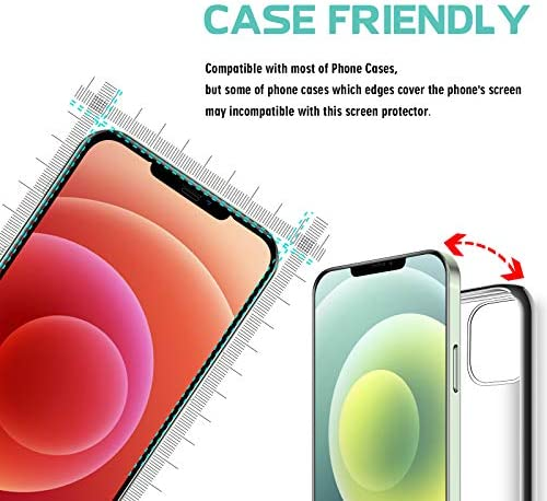 FILUV Compatible with iPhone 12 Screen Protector, iPhone 12 Pro Screen Protector, Full Coverage Premium Clarity For iPhone 12/12 Pro Tempered Glass Screen Protector 6.1 inch 2020 [3 Pack]