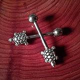Silver Turtle Nipple Barbell Nipple Ring Body Jewelry