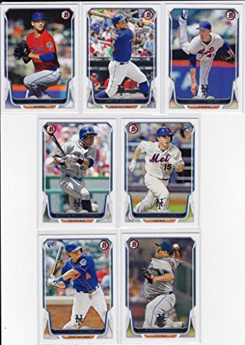 2014 New York Mets Bowman MLB Baseball Series Complete Mint 7 Card Team Set Made By Topps Including Matt Harvey David Wright and More