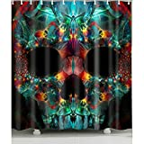 Colorful-Skull Shower Curtain 1 Pc for Home and Bath