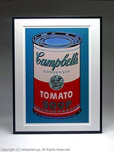 アンディ ウォーホル キャンベルスープ缶 ピンクと赤 額付ポスター ブラック B005LN5AVAブラック