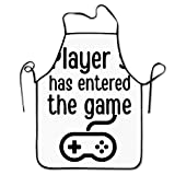 XCGWA Player 3 Has Joined The Game Deluxe Aprons Personalized Printing Kitchen Apron