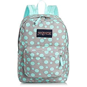 JanSport T501 Superbreak Backpack - Grey Rabbit Sylvia Dot