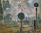 The Perfect Effect Canvas Of Oil Painting 'La Gare Saint-Lazare. Les Signaux,1877 By Claude Monet' ,size: 20x25 Inch / 51x63 Cm ,this High Resolution Art Decorative Prints On Canvas Is Fit For Dining Room Gallery Art And Home Artwork And Gifts